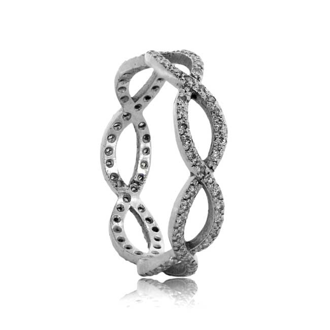 Infinity Wedding Band.Vintage Style Infinity Band