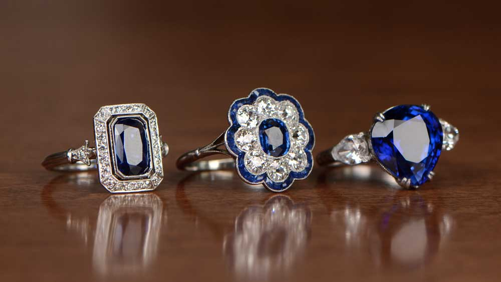 Sapphire Rings 65th Wedding Anniversary Gemstone