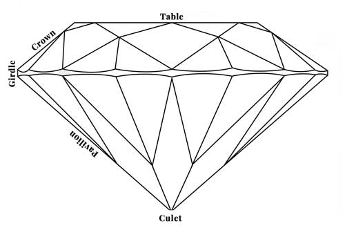 Diamond anatomy diagram