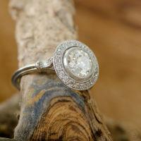 Platinum vintage engagement ring circa 1930