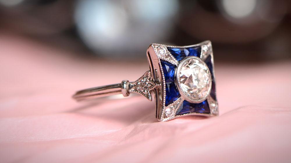 Art Deco Era Style Ring