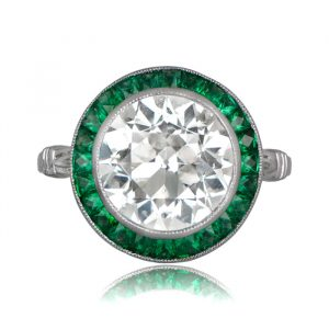 Emerald Halo Diamond Ring 11412