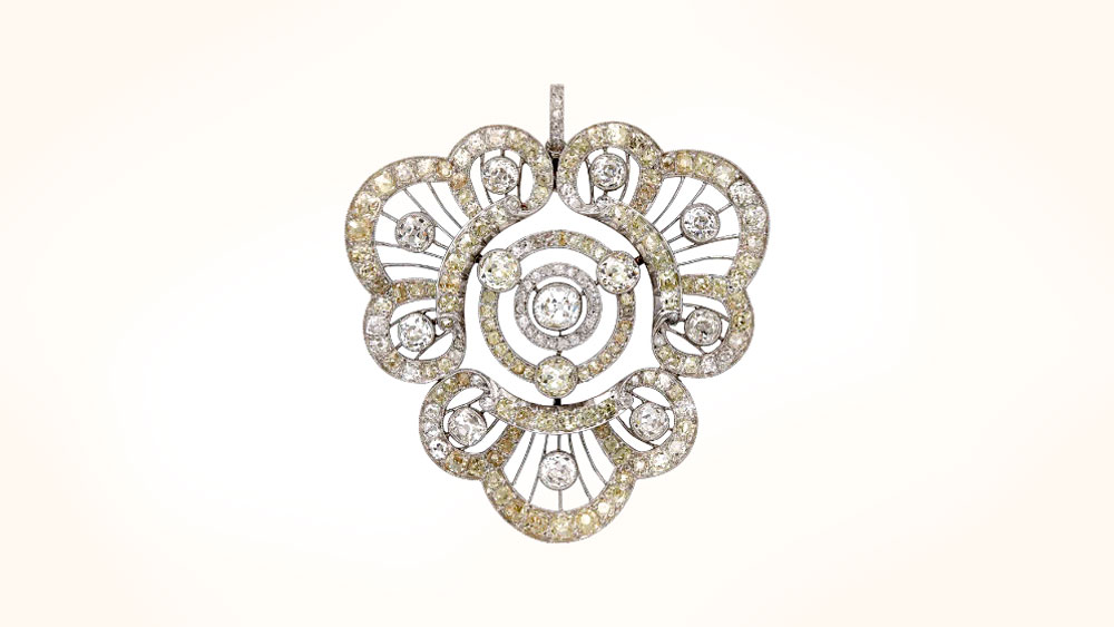 Belle Epoque Diamond Filigree Pendant