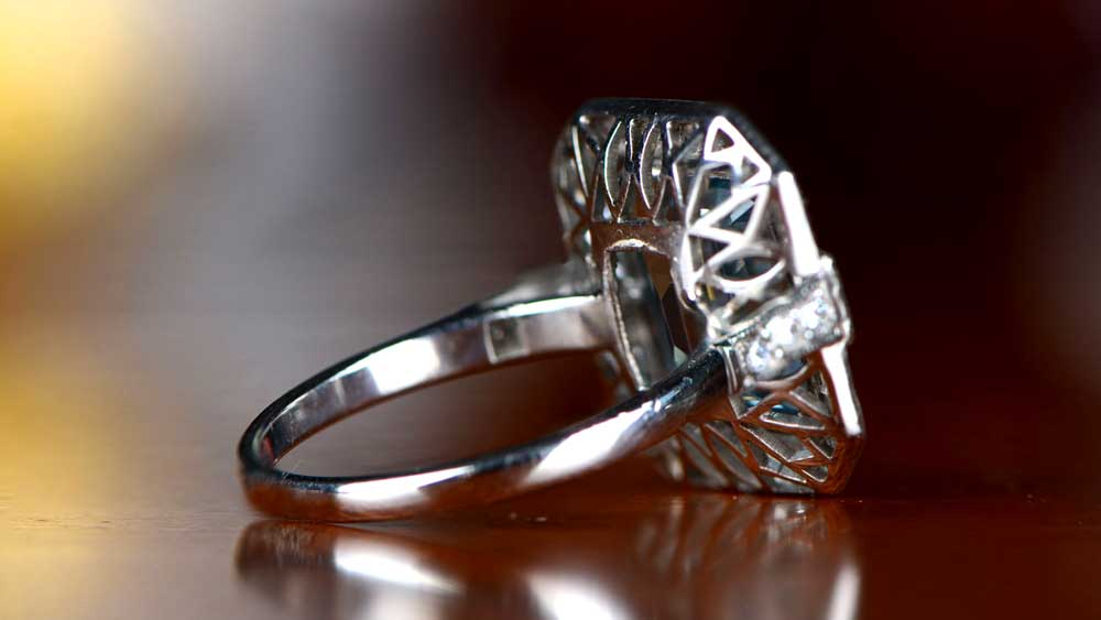 Openwork Filigree Example from Back of Ring