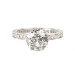 Diamond 10668VB Engagement Ring in Platinum