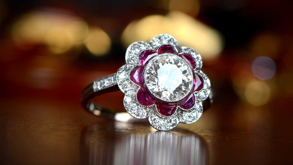 What Does A Bezel Set Ring Mean Estate Diamond Jewelry