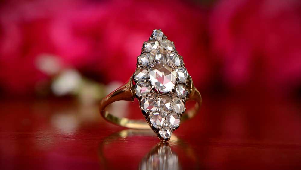 Antique Diamond in Antique Mounting