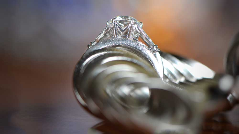 Engagement Ring and Ring Sizer