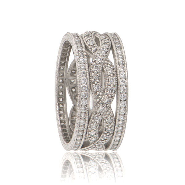 Infinity Wedding Band.Infinity Twist Estate Wedding Band
