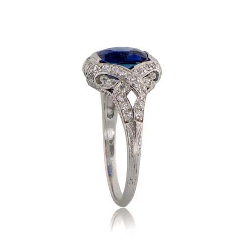 c9b7dc1c5fe3c Antique Kashmir Sapphire Engagement Ring