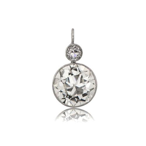 Old Mine Cut Diamond Earrings Estate Diamond Jewelry