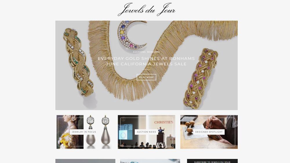 Jewels De Jour Blog Screenshot