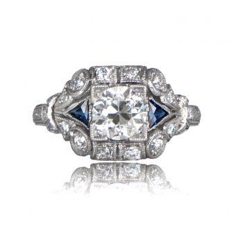 TV 11701B Diamond and Sapphire Ring
