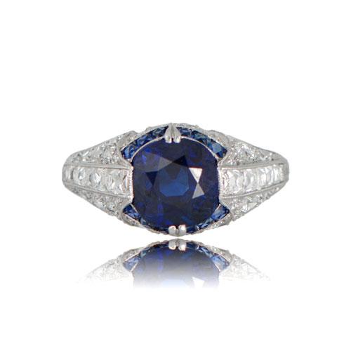 7a564ba99bae0 Antique Art Deco Sapphire Engagement Ring