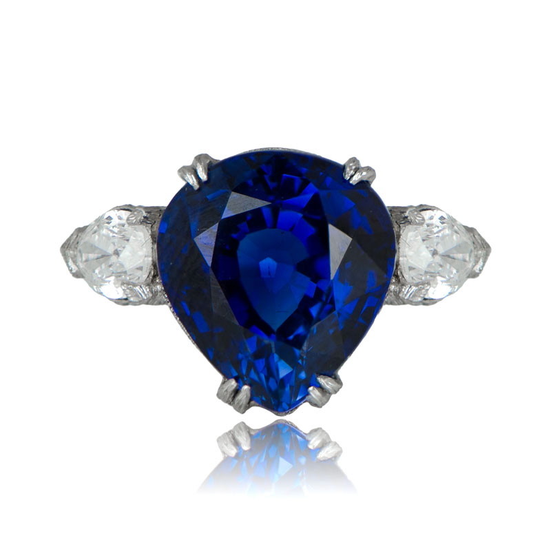 Antique Sapphire Ring · 10772 Sapphire Ring on Finger. Next