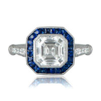 Diamond and sapphire vintage engagement ring