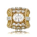 French Gold Diamond Ring