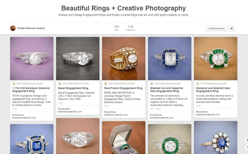 Estate Diamond Jewelry Pinterest