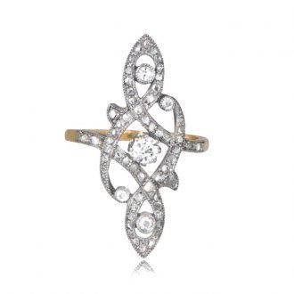 Art Nouveau Platinum Ring