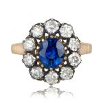 Sapphire Victorian Era engagement ring