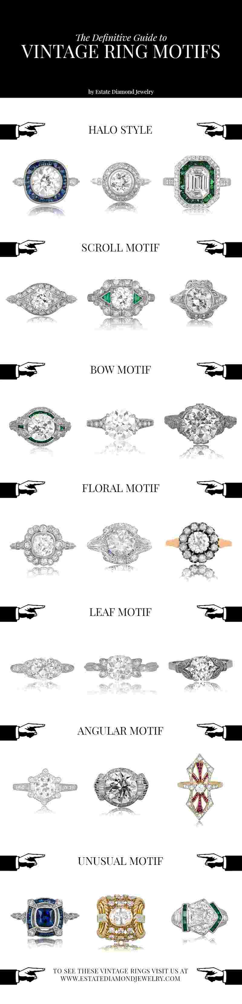 Vintage Engagement Ring Motifs