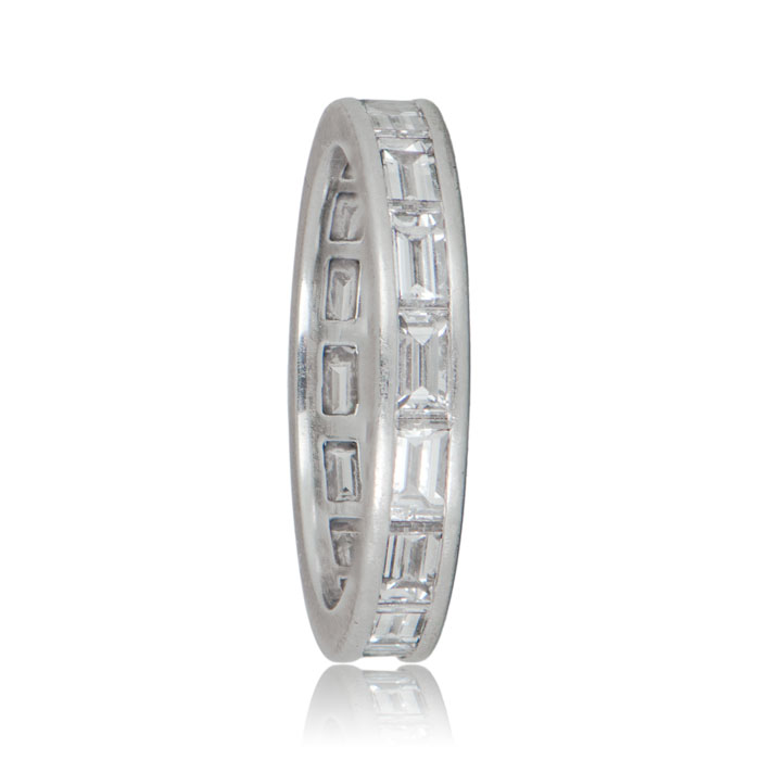 Rare antique Cartier diamond wedding band
