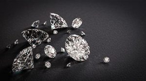 Sparkling Diamonds on Black Surface