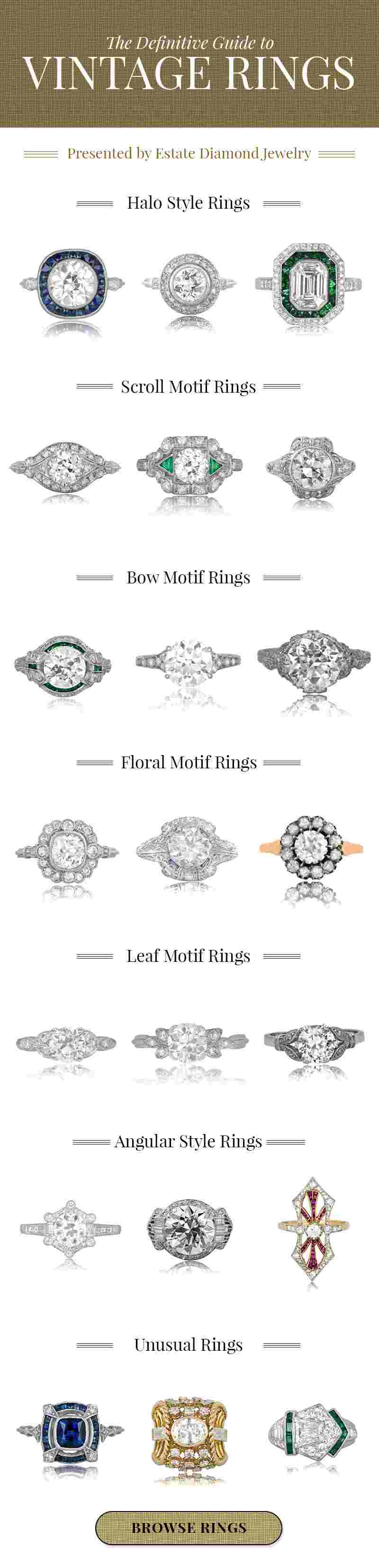 Definitive Guide to Vintage Ring Styles