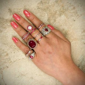 Rubies on Finger