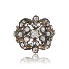 a diamond Victorian-era engagement ring