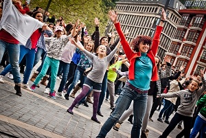 Flash mob in Bilbao, Spain, 2012