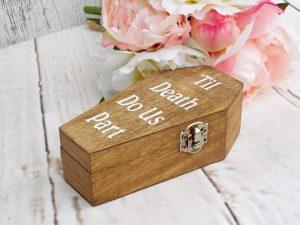 Till death do us part ring box