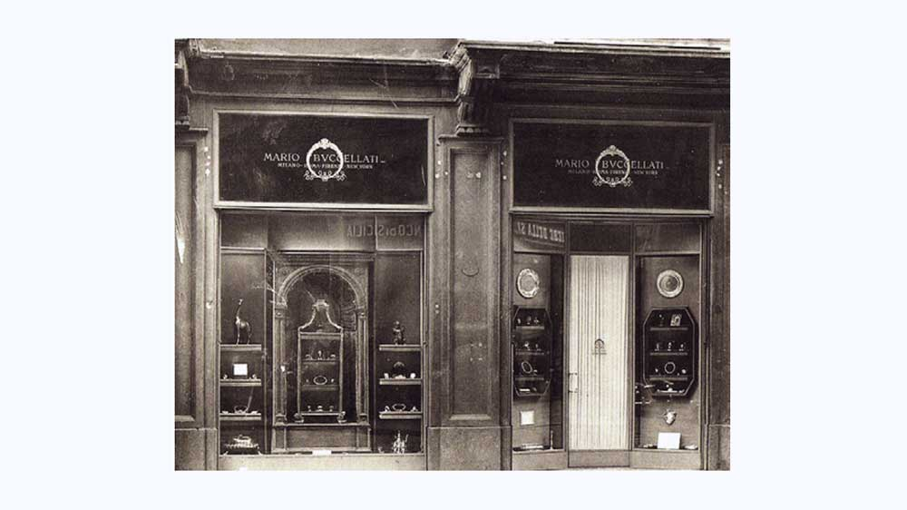 Buccellati Store from 1919 Italy