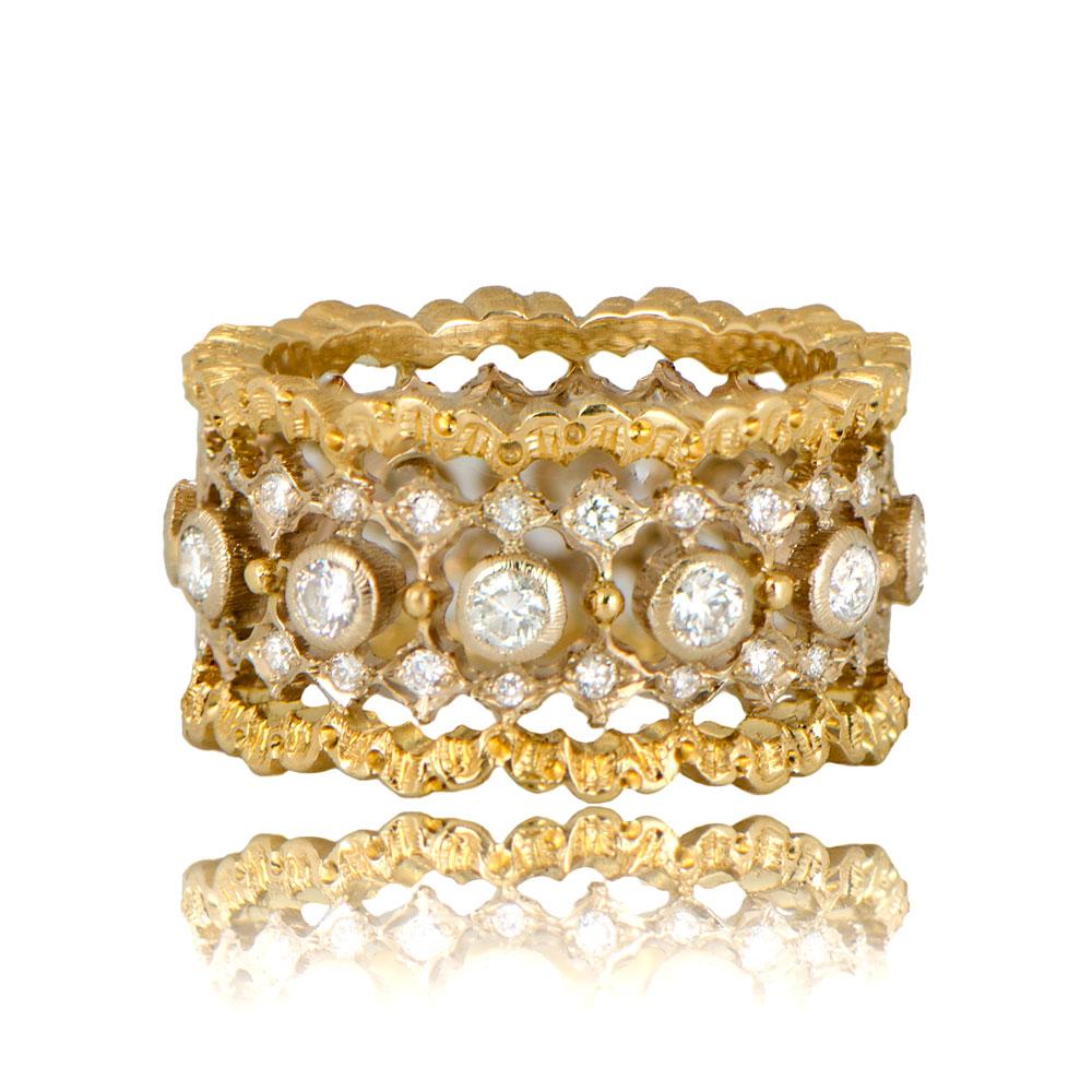 Buccellati 1960s Wedding Band - Estate Diamond Jewelry