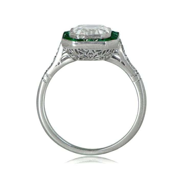 2d0c8bf2cfb6 Emerald Halo Asscher Engagement Ring - Estate Diamond Jewelry