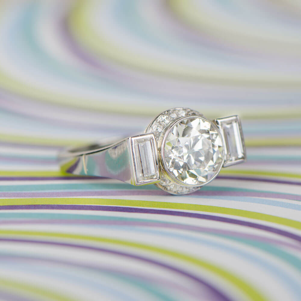 Retro Ring on Funky Background