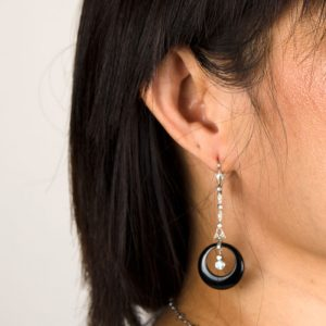 Wearing clean earrings on ear