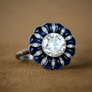 Cabochon Engagement Ring
