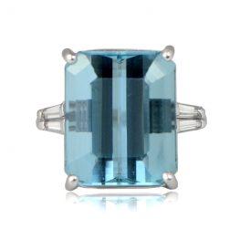 12-carat Vintage Aquamarine Ring TV