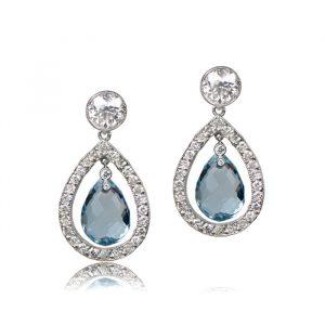Florence Aquamarine Earrings Front