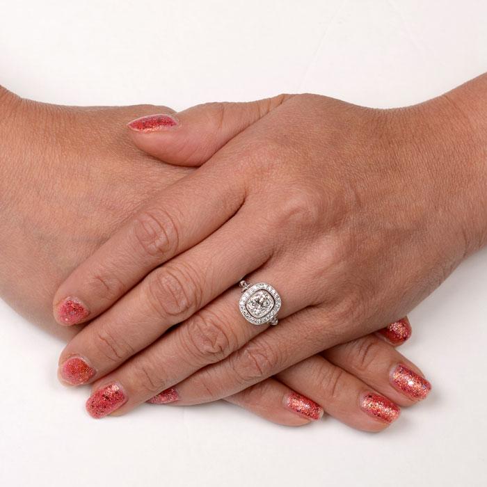 Erie Ring 1 93 Carat Antique Cushion Cut Diamond Engagement Ring