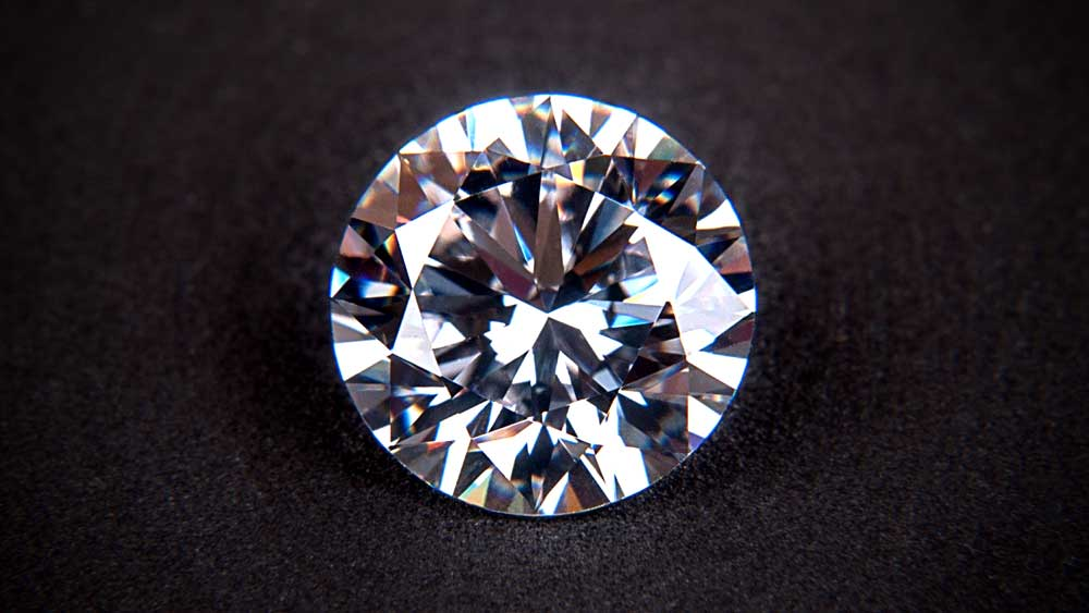 Fake Diamond on Black Background