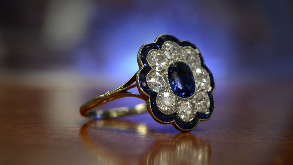 Antique Sapphire Engagement Ring