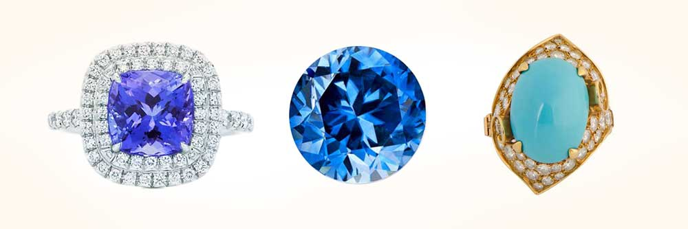 December Birthstones Tanzanite Turquoise Zircon