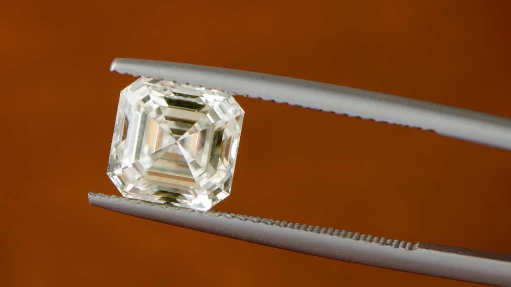 K Color Asscher Cut Diamond