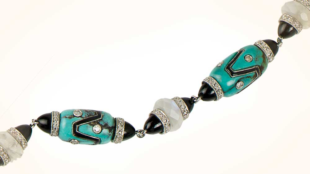 Onyx and Turquiose Necklace