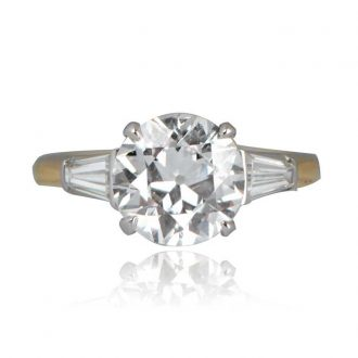 Mid-Century Diamond Ring Top View