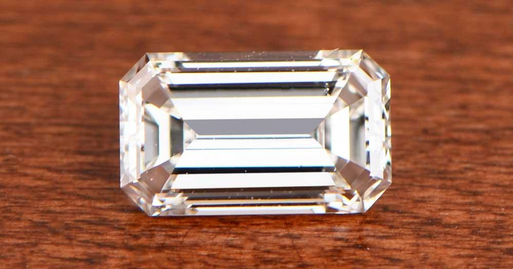 Emerald Cut Diamond on Table