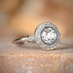 11091 Engagement Ring with Halo