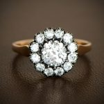 Victorian Cluster Engagement Ring